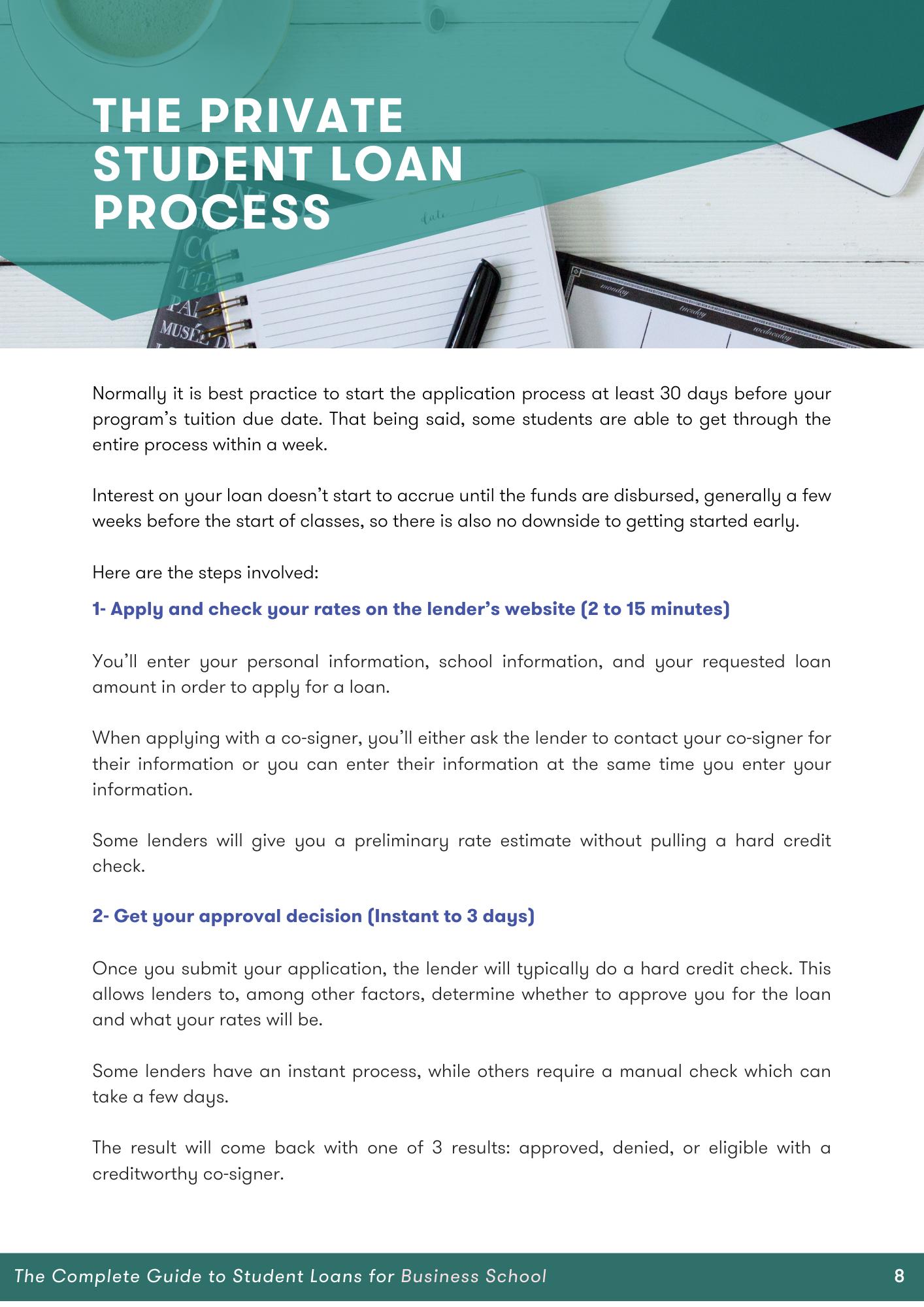 steps for applying