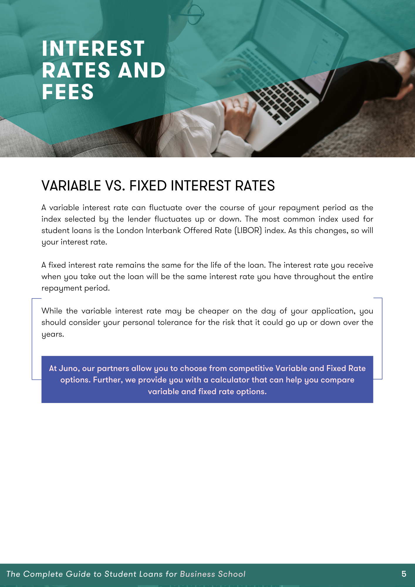 variable versus fixed rates