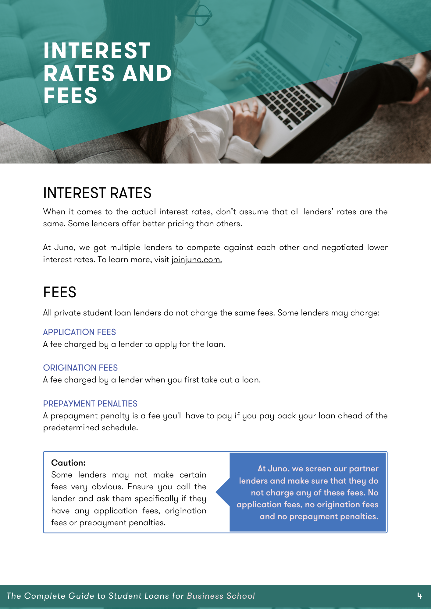 page 6 of guide about fees and interest
